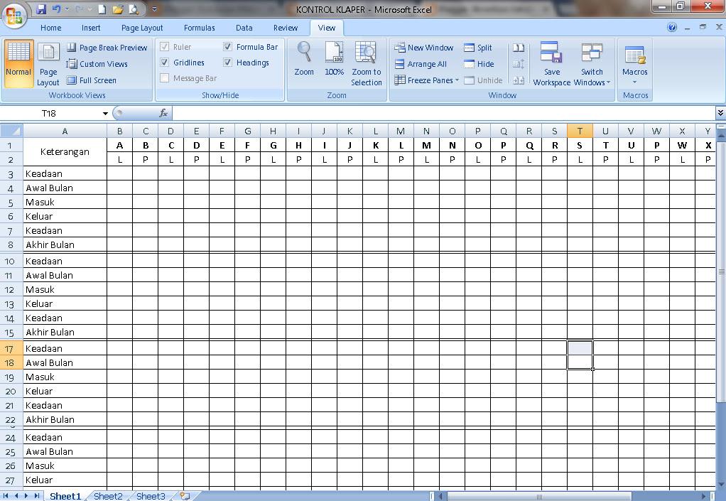 Format Kontrol Klaper untuk Berkas Akreditasi Sekolah SD-SMP-SMA