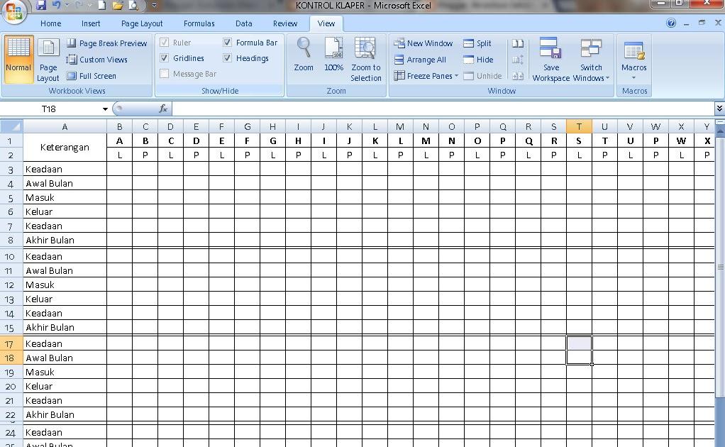 Blogedukasi Format Kontrol Klaper Untuk Berkas Akreditasi Sekolah Sd Smp Sma Wiki Edukasi