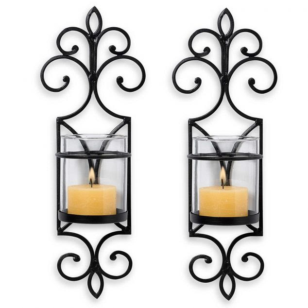 71HiN5ZAjEL. SL1500  634x634 15 Chic Wrought Iron Wall Candle Holders You Will Admire