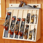 Hand Plane Rack Woodworking Plan - fee plans from WoodworkersWorkshop® Online Store - hand planes, tool storage,workshop,full sized patterns,woodworking plans,woodworkers projects,blueprints,drawings,blueprints,how-to-build