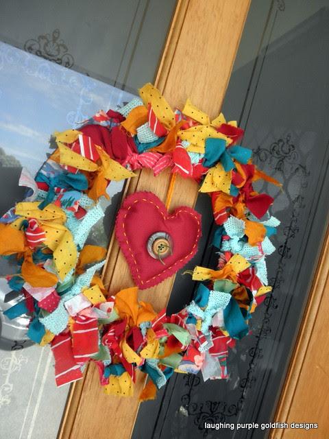 Laughing Purple Goldfish Designs Christmas Wreath