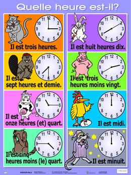 Godziny - słownictwo 14 - Francuski przy kawie