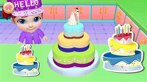 3D CAKE Wedding Cake Games learn how to make cakes/ Real
