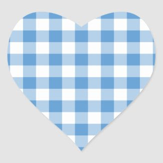 Light Blue and White Gingham Pattern Sticker