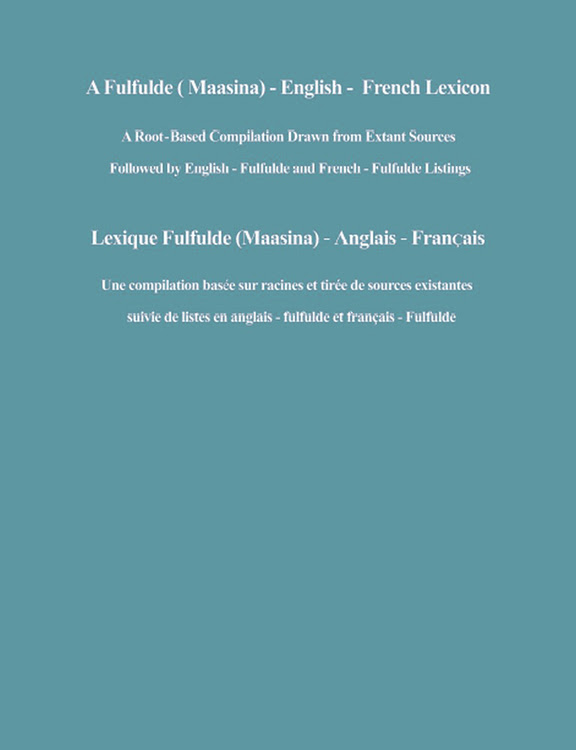 A Fulfulde (Maasina) - English - French Lexicon cover