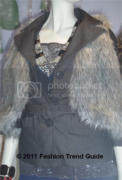 cropped faux fur vest