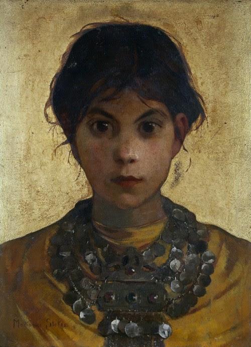 dappledwithshadow:  A Capri Witch, Marianne Stokes c. 1884
