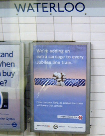 Jubilee Line Extra Carriage Ad