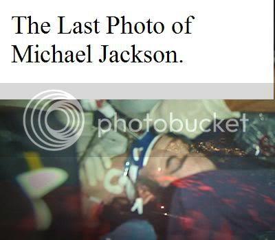 The Last Photo of Michael Jackson