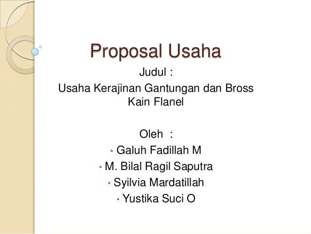 Proposal Usaha Makanan Hewani