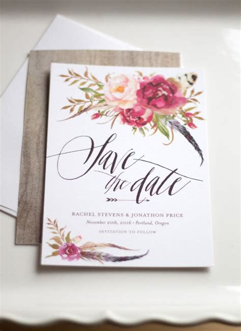 New Floral Save the Dates We Love!   Wedding Inspiration