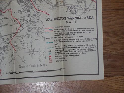 Key, Civil Defense Map for Washington, DC, 1959