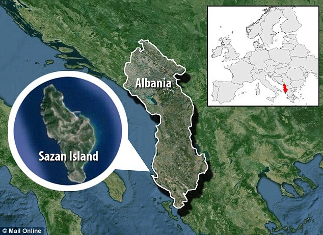 Sazan island off the Albanian coast is uninhabited. It was used to test poisonous gases during the Cold War. During a training trip on the island, 30 marines fell violently ill.