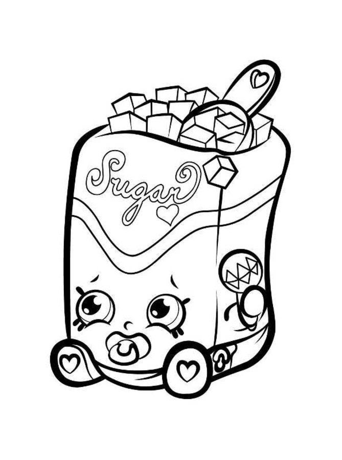 Dibujos Para Colorear Shopkins Imprimible Gratis Para