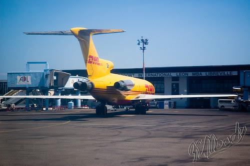 A previous DHL B727-200 in Libreville