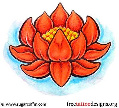 The Design More Japanese Lotus Flower Tattoo Design