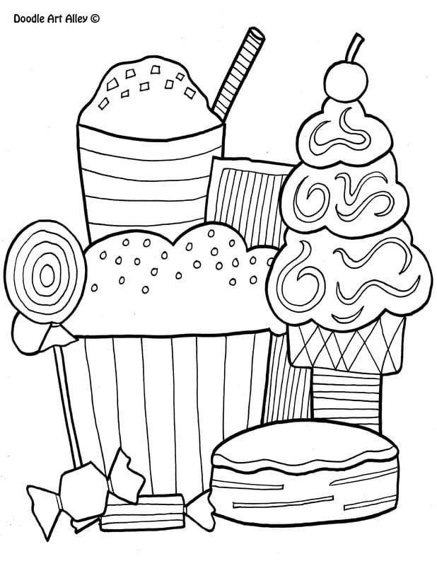 - Food Coloring Pages - Coloring Pages Kids