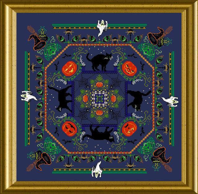 Halloween Kitty Mandala