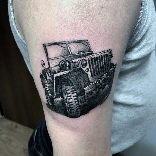 Guys Designs Jeep Tattoos