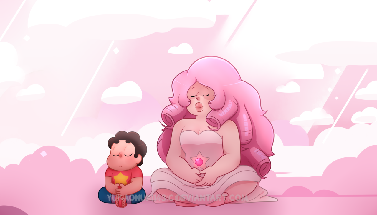 Steven and Rose screenshot repaint from Storm in The Room.
