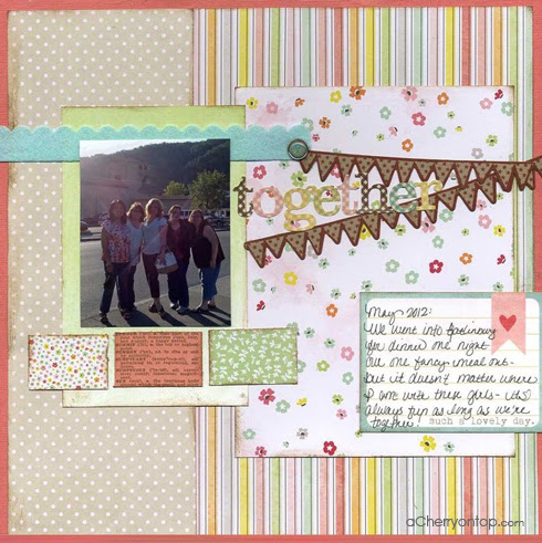 scrapbooking sketch challenge winner at acherryontop