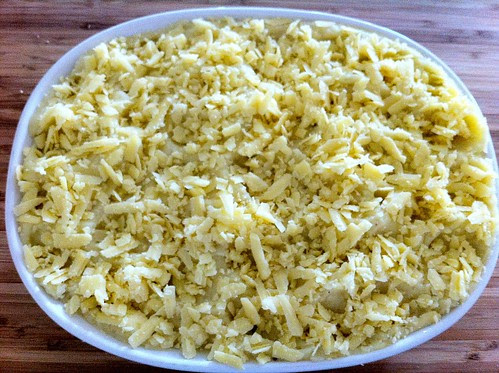Topped Potatoes with Grated Aged English Cheddar
