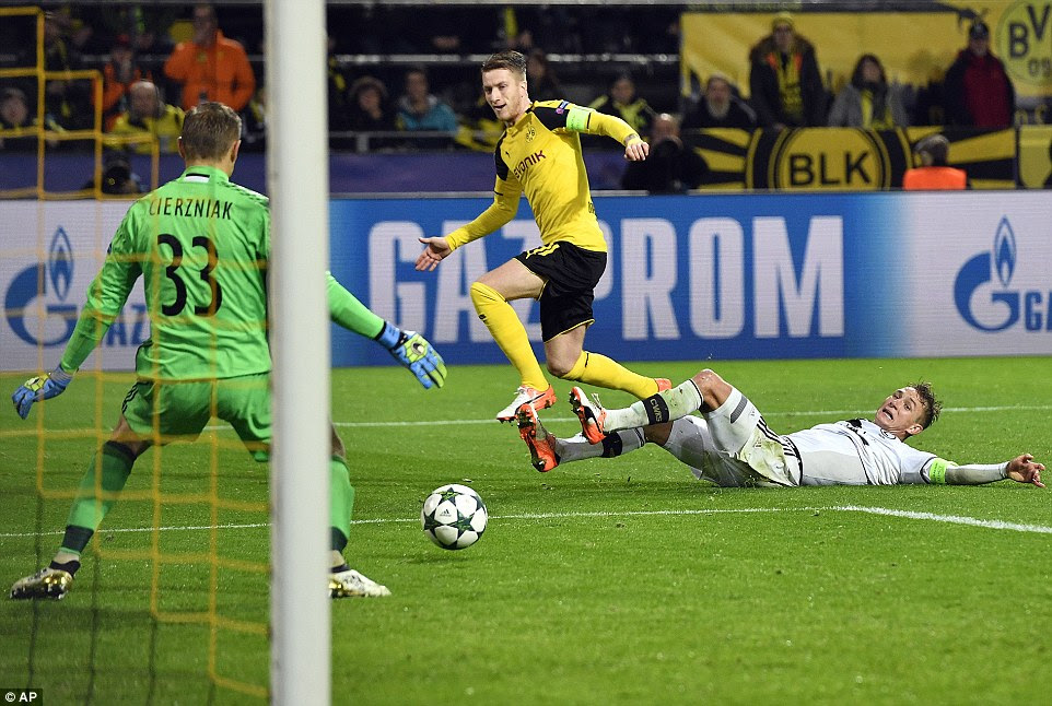 Reus' goal took the game beyond Monaco 8-3 Deportivo to become the highest scoring game in Champions League history