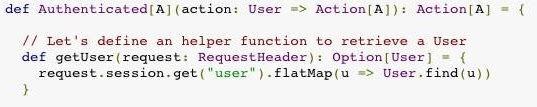 flatMap example in the Play Framework