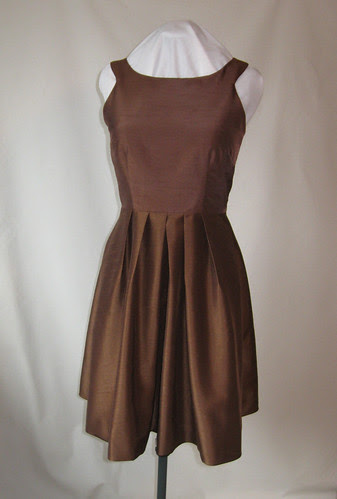 Brown dress front