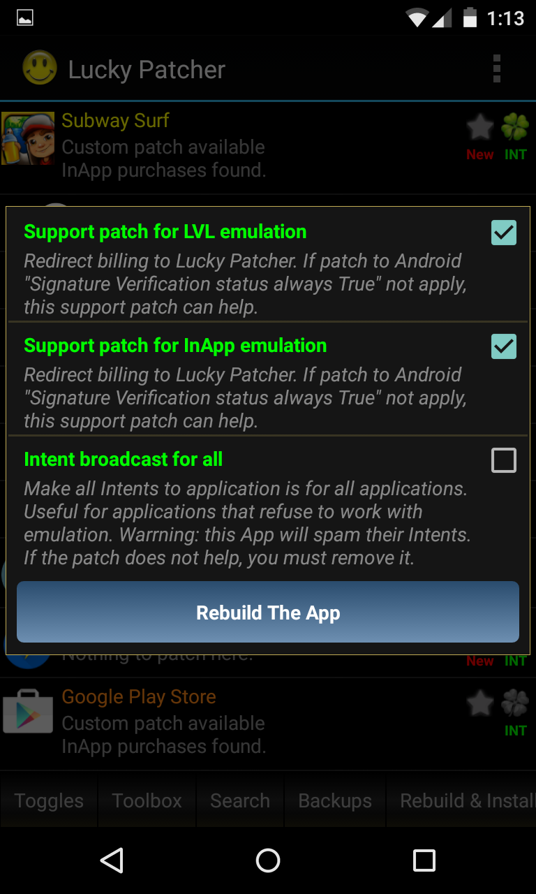 unlimited in app purchases android no root