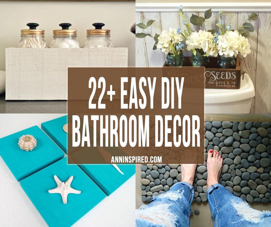 22 Easy Diy Bathroom Decor Ideas Ann Inspired