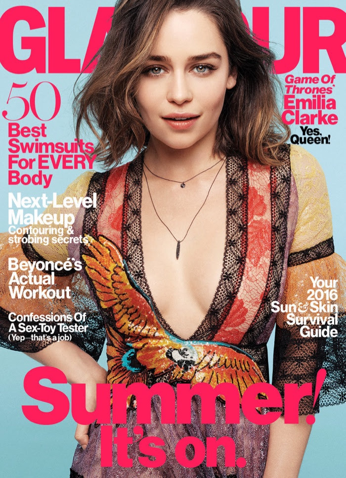 Emilia Clarke on Glamour Magazine May 2016 Cover