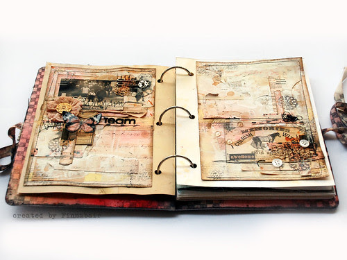 Mixed media book - page