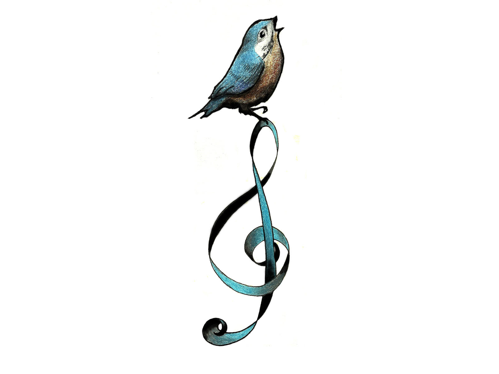Music Bird Tattoos Clip Art Library
