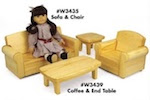 Doll Sofa and Doll Chair Woodworking Plan - fee plans from WoodworkersWorkshop® Online Store - doll furniture,sofa,chairs,,dolls,full sized patterns,woodworking plans,woodworkers projects,blueprints,drawings,blueprints,how-to-build,MeiselWoodHobby