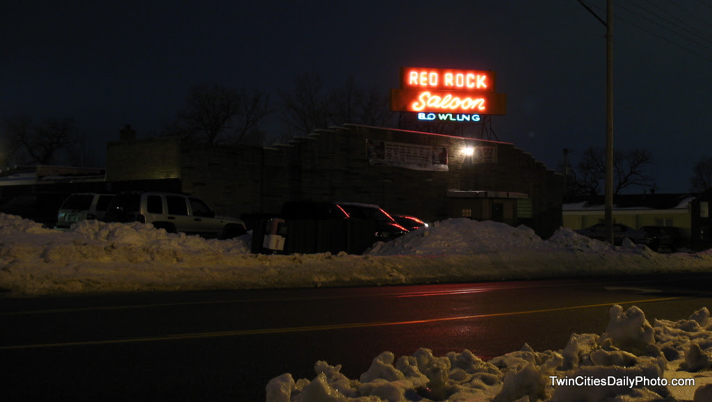 The Red Rock Saloon is in Newport along Highway 61. With the new construction that took place in Newport removing the three stop lights in town, it's very easy to overlook the neon lights while driving at night.