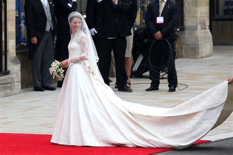 Princess Catherine in Sarah Burton wedding dress