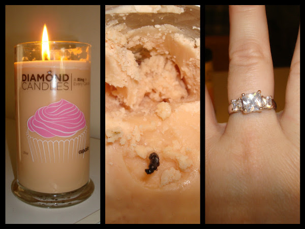 Diamond Ring Candles | DudeIWantThat.com