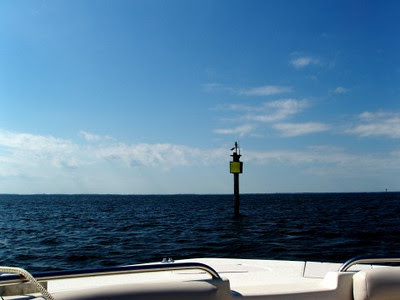 Lake channel markers.