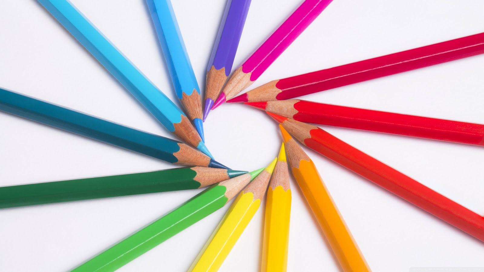 Rainbow Colored Pencils Macro ❤ 4K HD Desktop Wallpaper for 4K