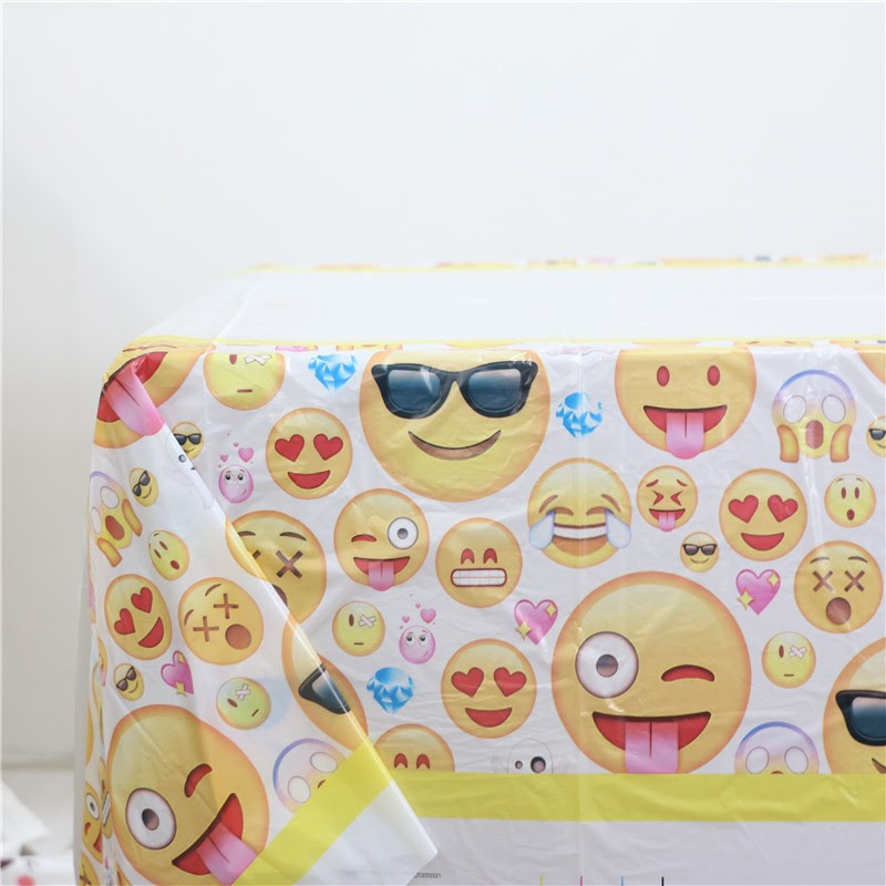 Wholesale- Funny Emoji Printed Plastic Tableclothes For ...