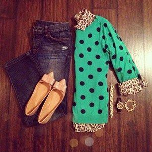 polka dot and leopard. Jcrew