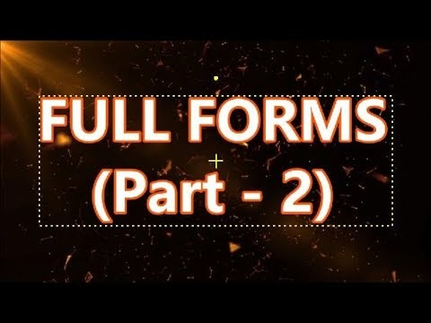 Short Form to Full Form (Part-02)