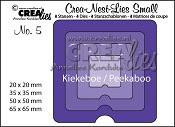 Crea-Nest-Lies Small stansen no. 5 Kiekeboe Vierkant / Crea-Nest-Lies Small dies no. 5 Peekaboo Squa