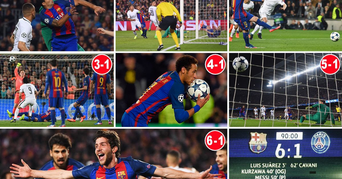 Barcelona 6-1 PSG (Agg: 6-5): How one of the greatest ever ...