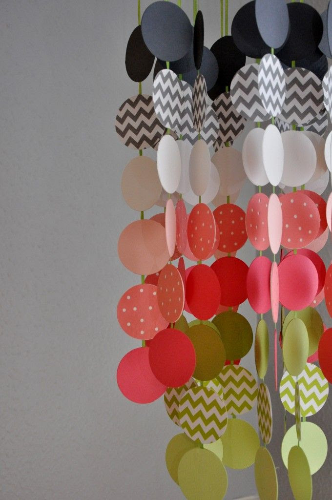 DIY Circles Mobile - easy #DIY with scrapbook paper! #nurserydecor