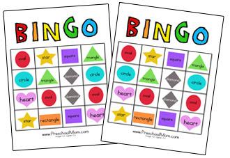 Shapes bingo game