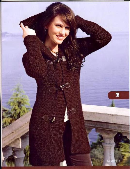 Женская одежда: Вязаная Кофта С Капюшоном