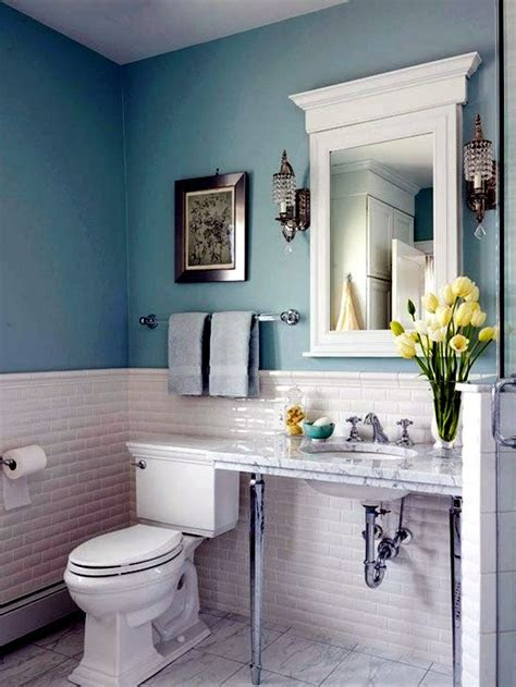 bathroom wall color fresh ideas  small spaces
