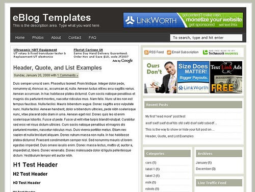 20 beautiful professional blogger templates you may want for Free blogger templates for writers